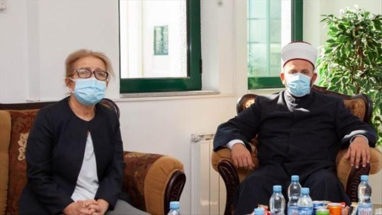 Abasadorica Turske razgovarala sa reisom Rifatom Fejzićem FOTO: ISLAMSKA ZAJEDNICA CRNE GORE