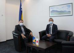 Ministar Dedić i ambasador Japana u BiH Ito razgovarali o saradnji u oblastima poljoprivrede i vodoprivrede